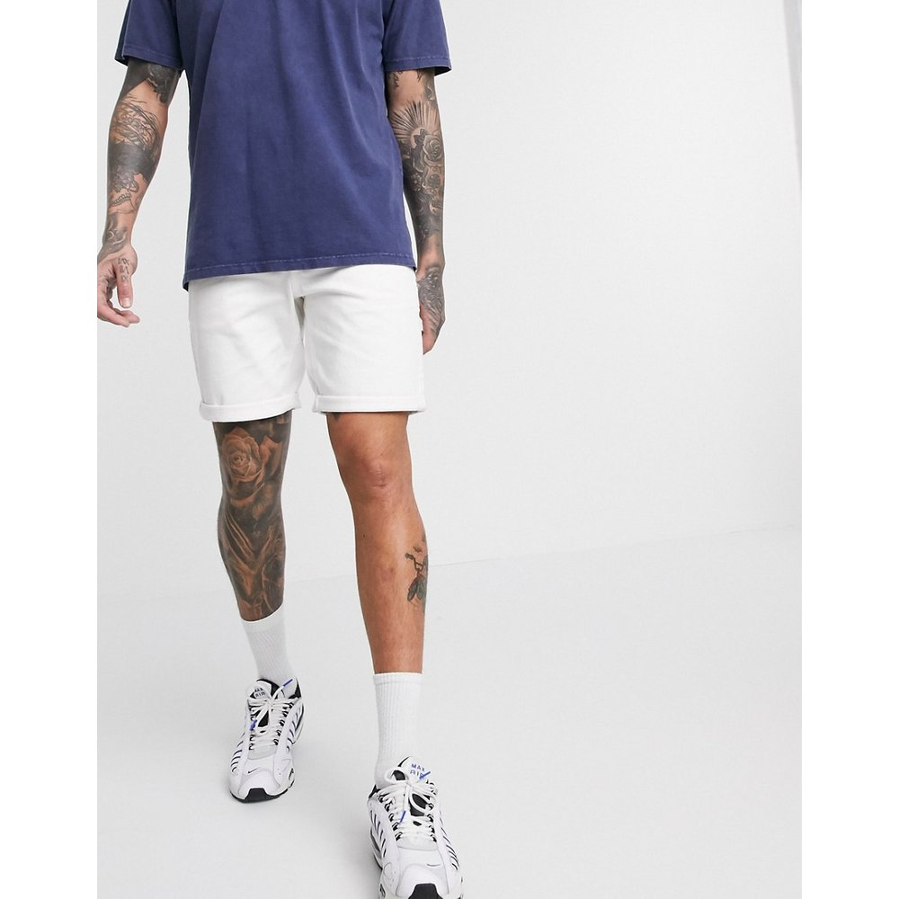 Short en jean slim - ASOS DESIGN - Modalova