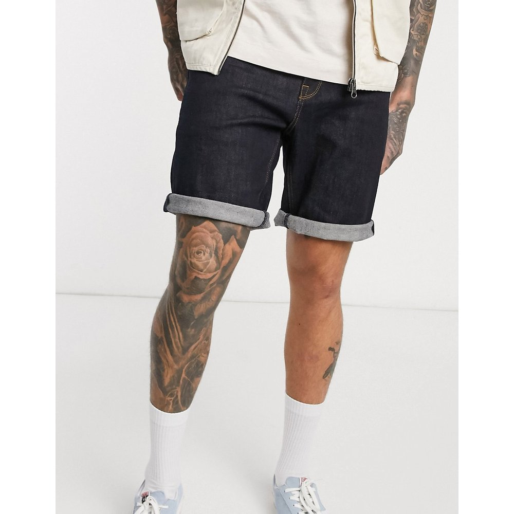 Short en jean slim - Indigo - ASOS DESIGN - Modalova