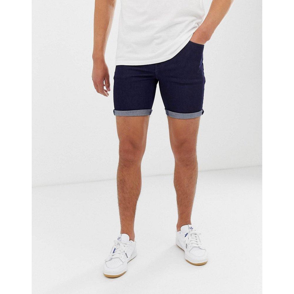 Short en jean stretch hyper moulant - Indigo - ASOS DESIGN - Modalova