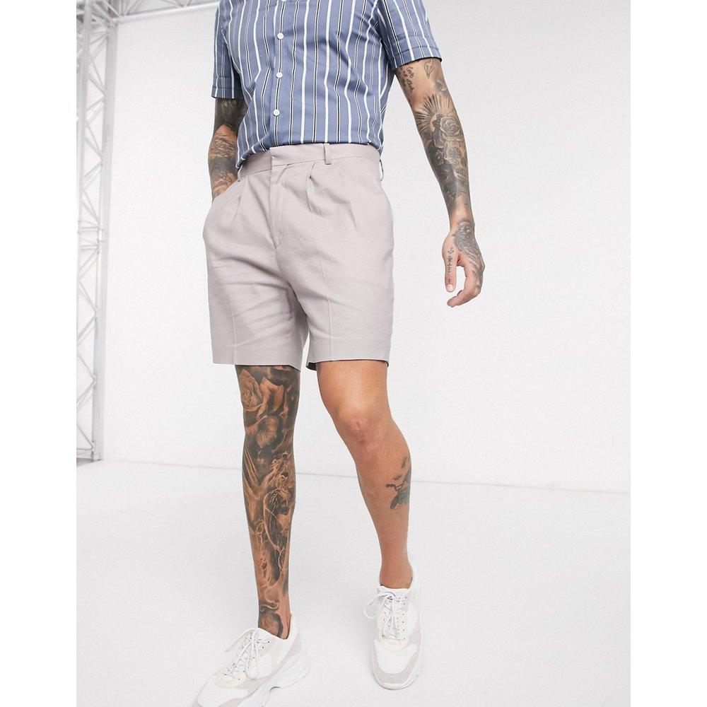 Short fuselé habillé en lin - ASOS DESIGN - Modalova