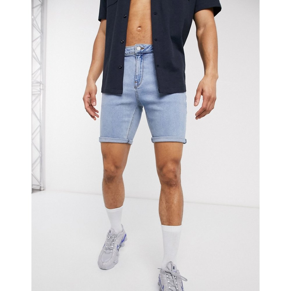 Short skinny en jean - délavé clair - ASOS DESIGN - Modalova
