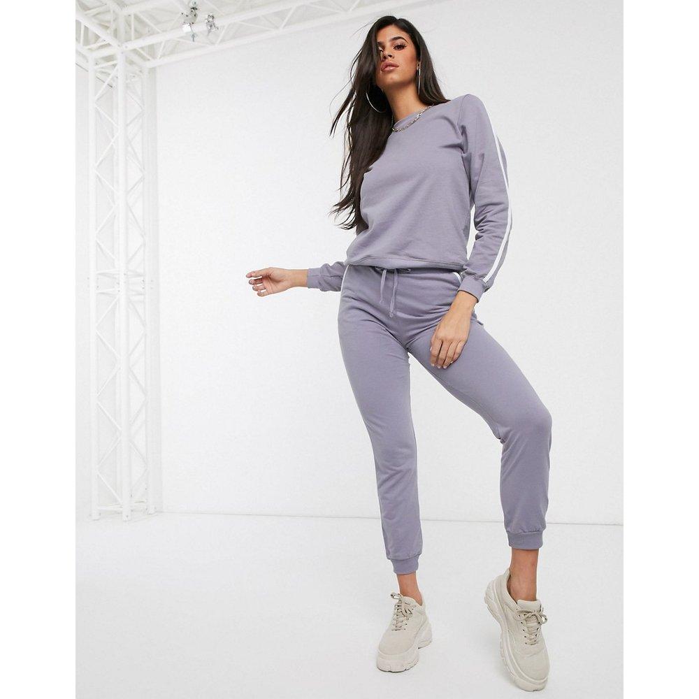 Survêtement à bandes contrastantes avec sweat-shirt et jogger basique noué - ASOS DESIGN - Modalova