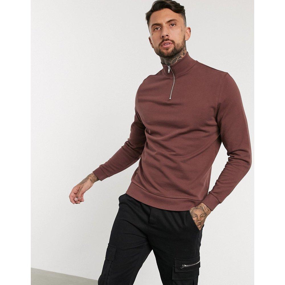Sweat-shirt à col zippé - ASOS DESIGN - Modalova