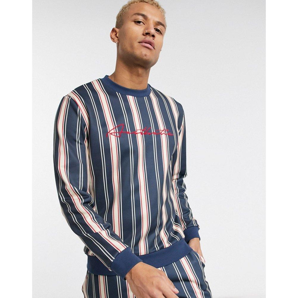 Sweat-shirt à rayures (ensemble) - Bleu marine - ASOS DESIGN - Modalova