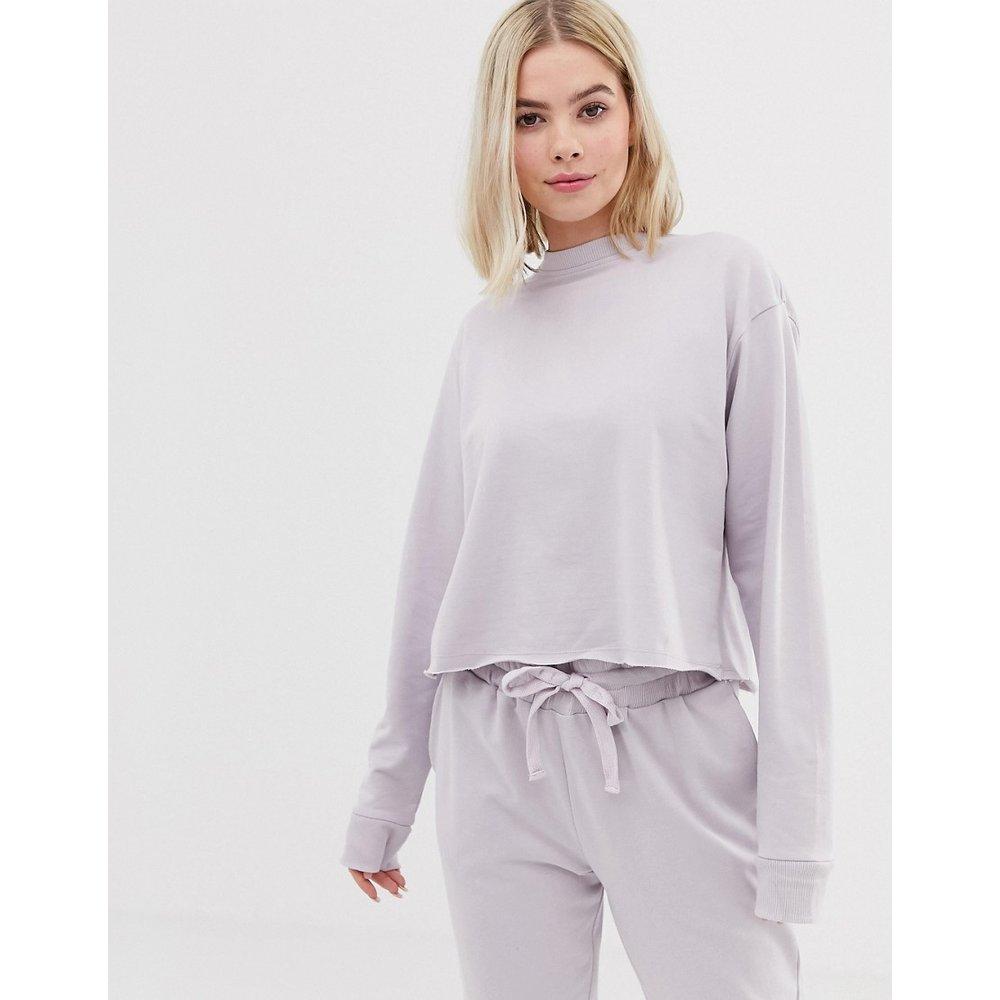 Sweat-shirt confort croisé au dos en coton bio - ASOS DESIGN - Modalova
