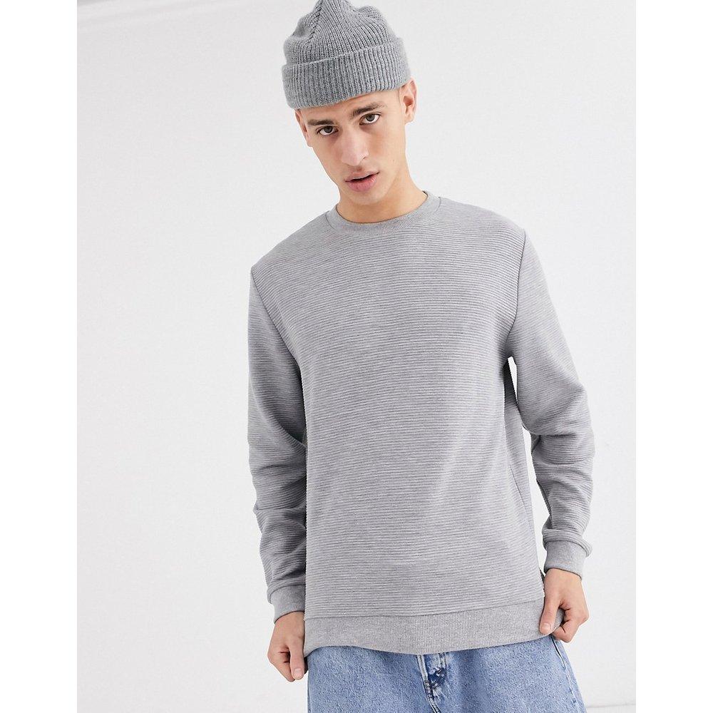 Sweat-shirt côtelé - chiné - ASOS DESIGN - Modalova