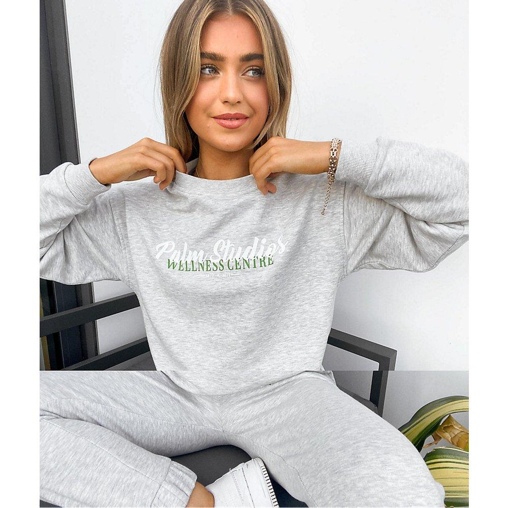 Sweat-shirt de survêtement oversize avec logo wellness / jogger oversize - chiné - ASOS DESIGN - Modalova