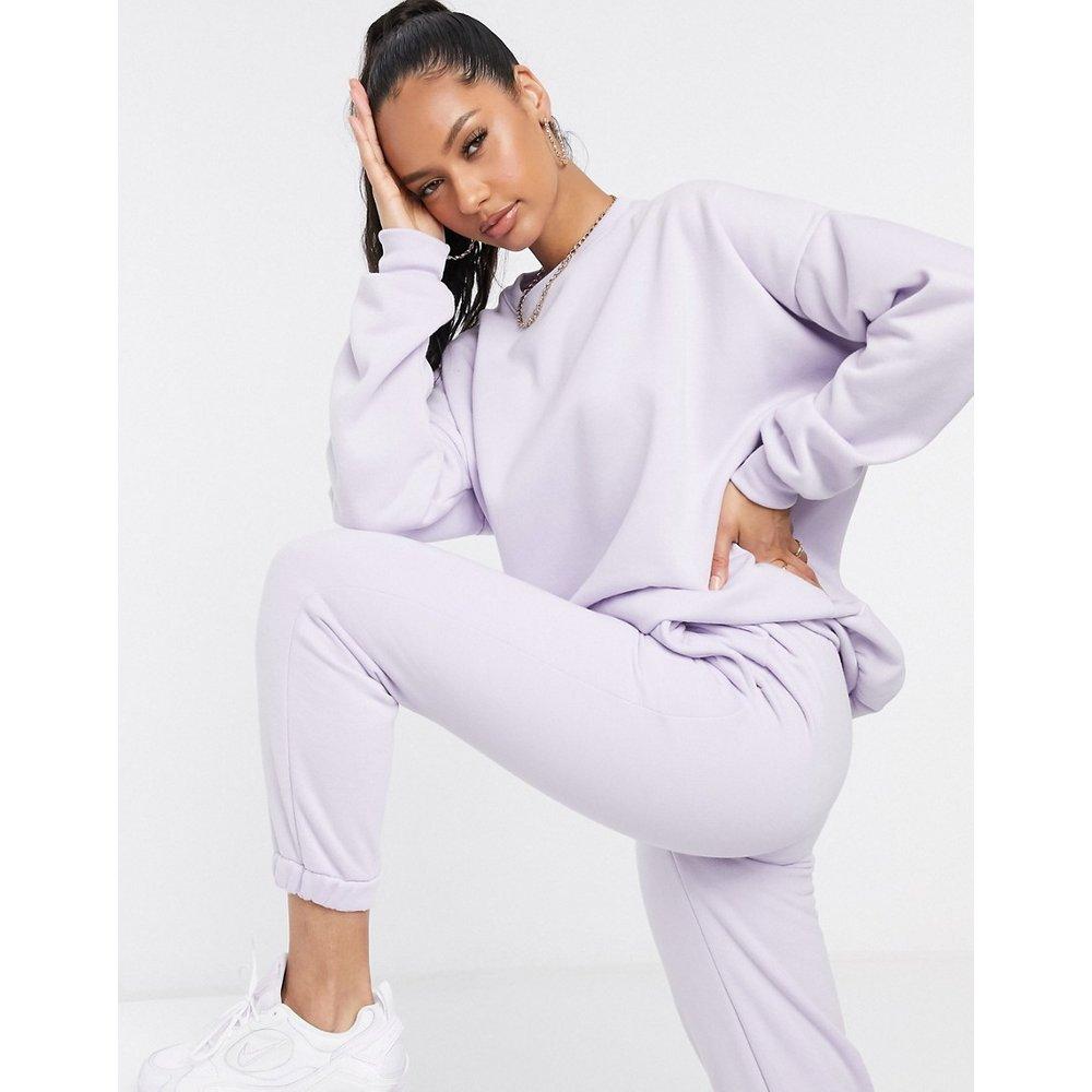 Sweat-shirt d'ensemble oversize uni - Lilas - ASOS DESIGN - Modalova