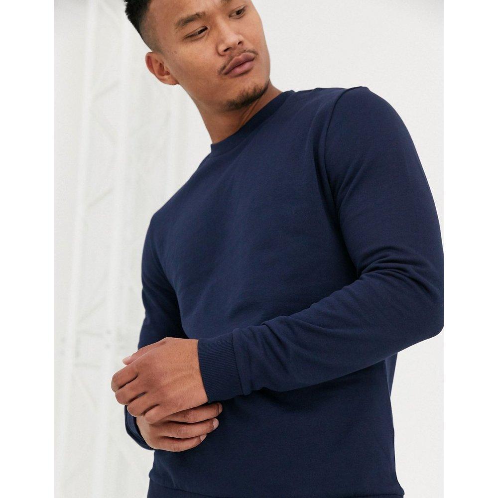 Sweat-shirt en tissu biologique - Bleu marine - ASOS DESIGN - Modalova