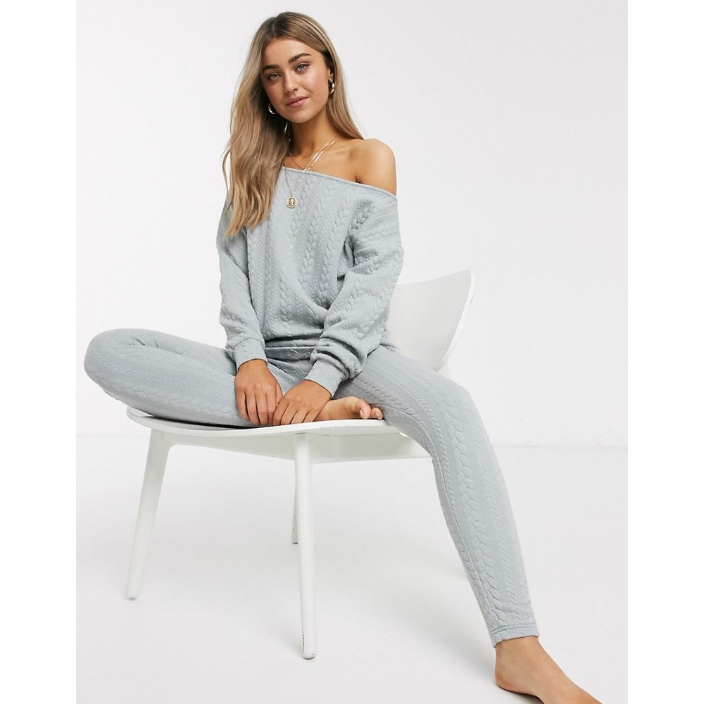 Sweat-shirt et leggings en maille torsadée - ASOS DESIGN - Modalova