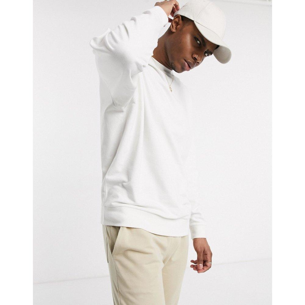 Sweat-shirt léger oversize - Blanc - ASOS DESIGN - Modalova
