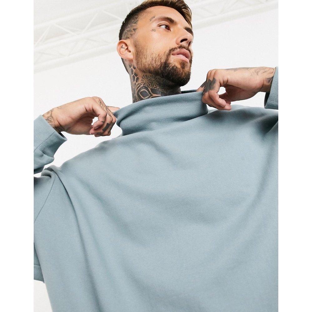 Sweat-shirt oversize à col cheminée - ASOS DESIGN - Modalova