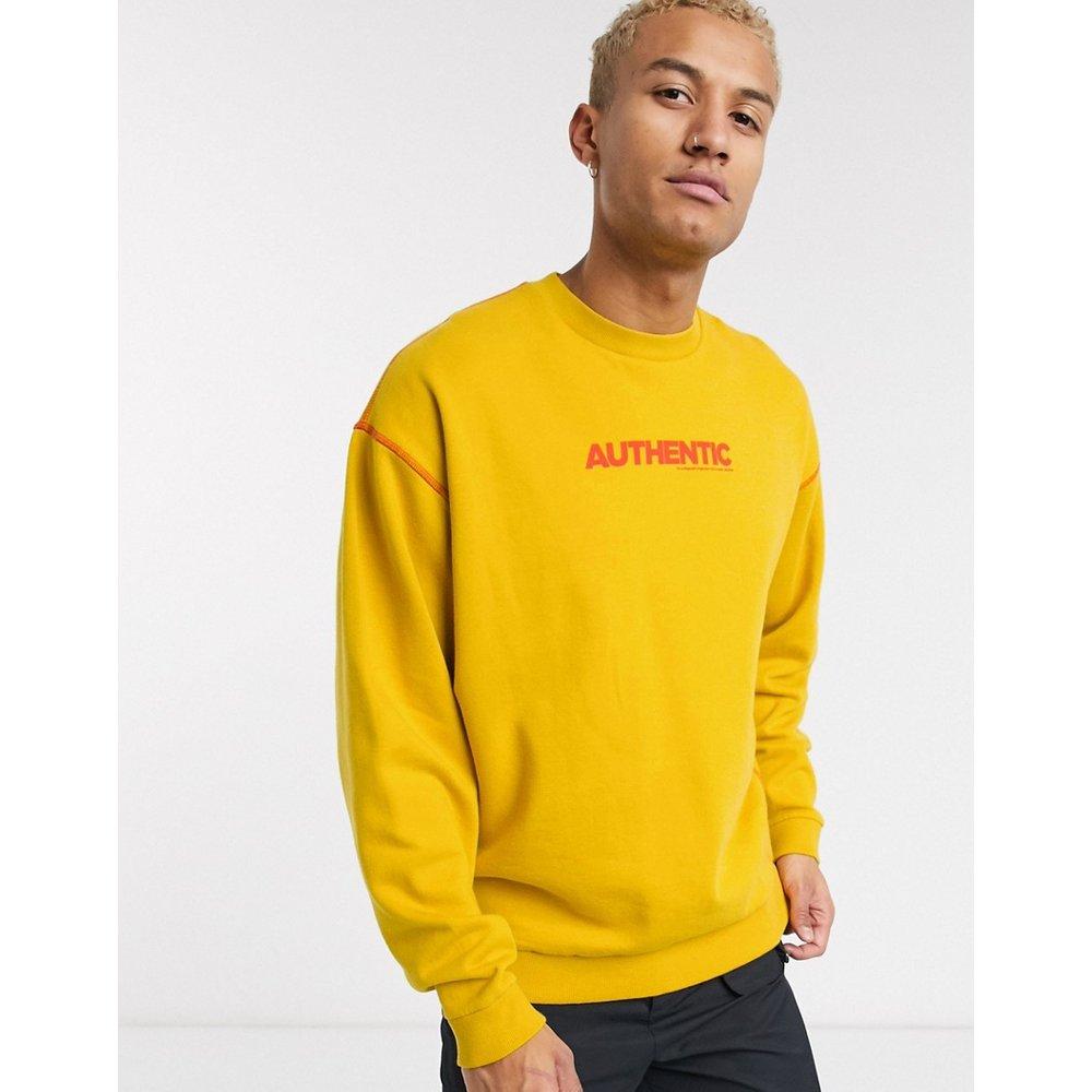 Sweat-shirt oversize à imprimé authentique - délavé - ASOS DESIGN - Modalova