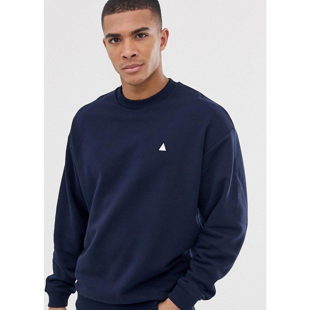 Sweat-shirt oversize à imprimé triangle - Bleu marine - ASOS DESIGN - Modalova