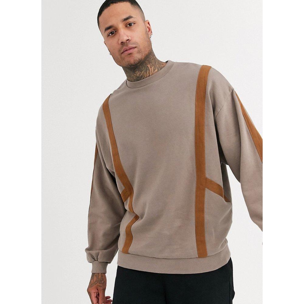 Sweat-shirt oversize avec bande - ASOS DESIGN - Modalova