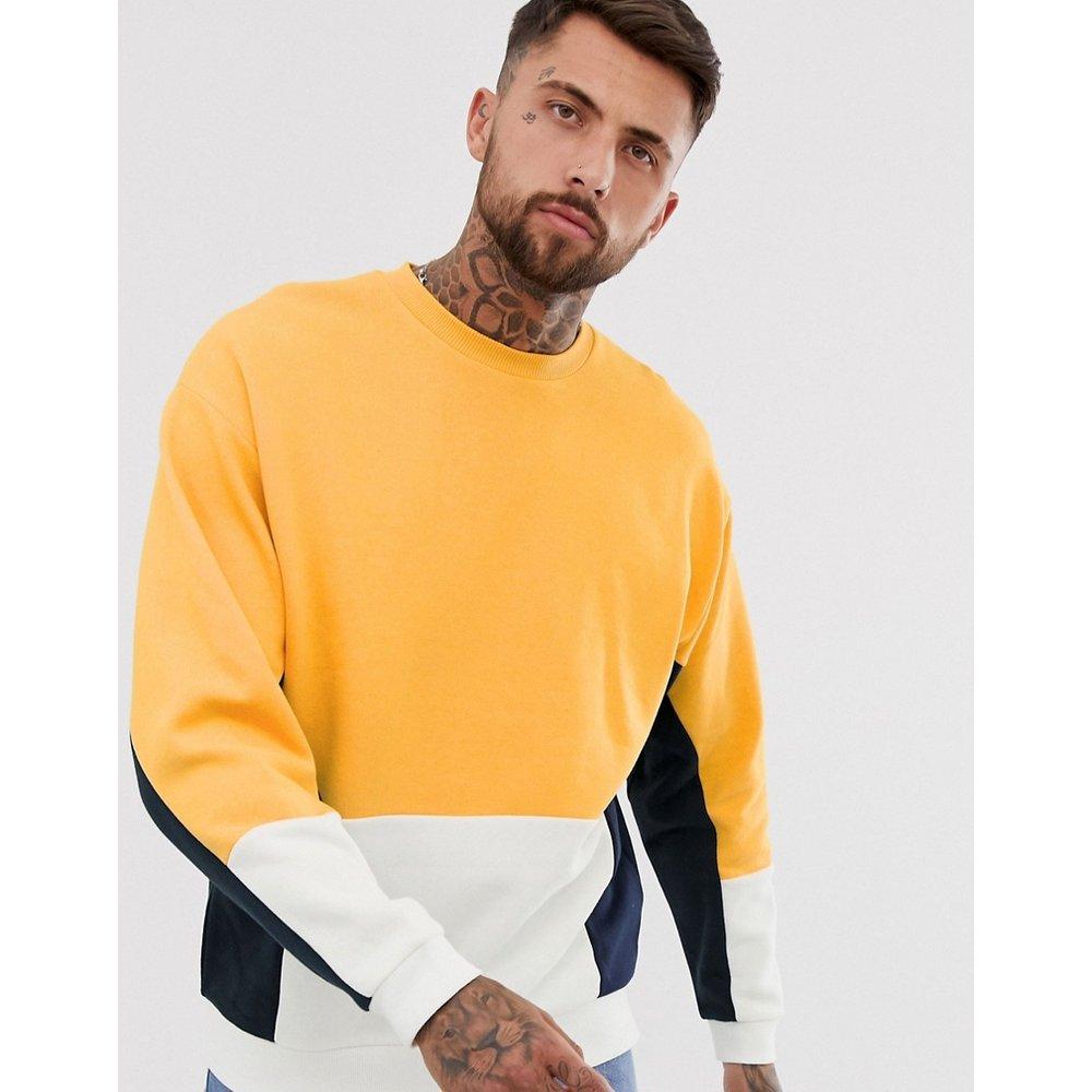 Sweat-shirt oversize color block - ASOS DESIGN - Modalova