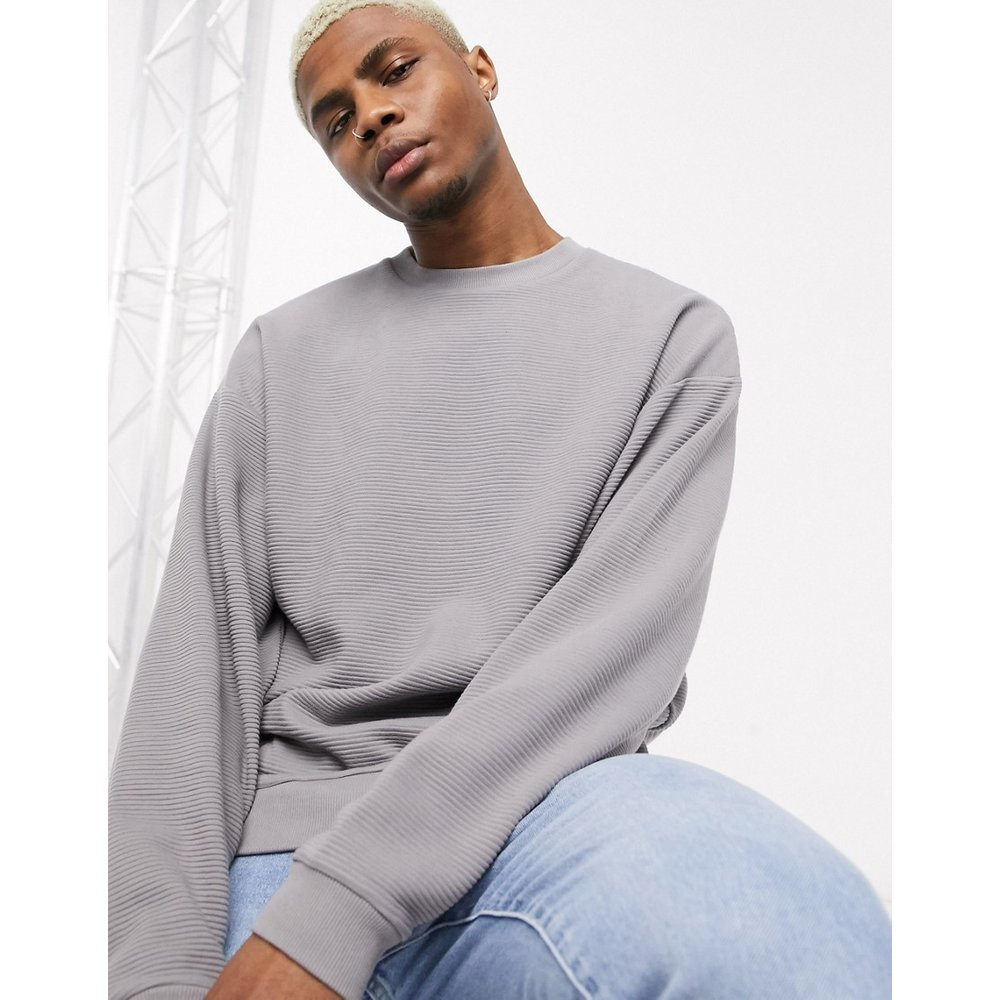 Sweat-shirt oversize côtelé - ASOS DESIGN - Modalova
