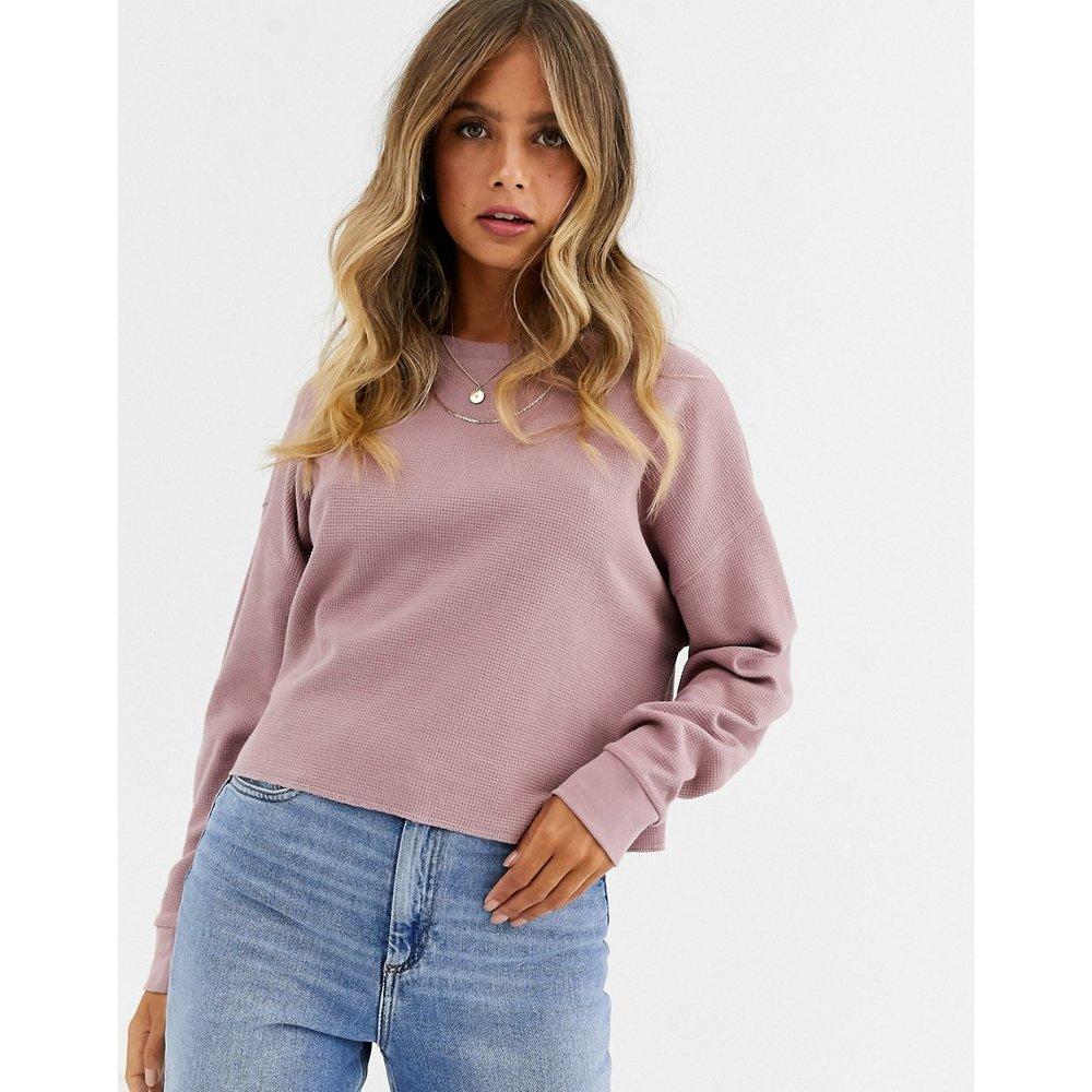 Sweat-shirt oversize effet gaufré avec coutures apparentes - ASOS DESIGN - Modalova