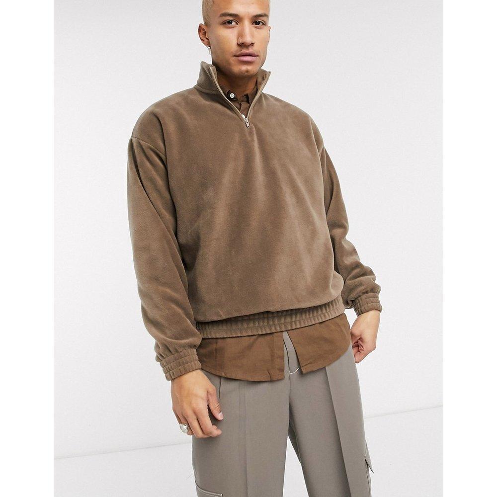 Sweat-shirt oversize en polaire avec encolure zippée - ASOS DESIGN - Modalova