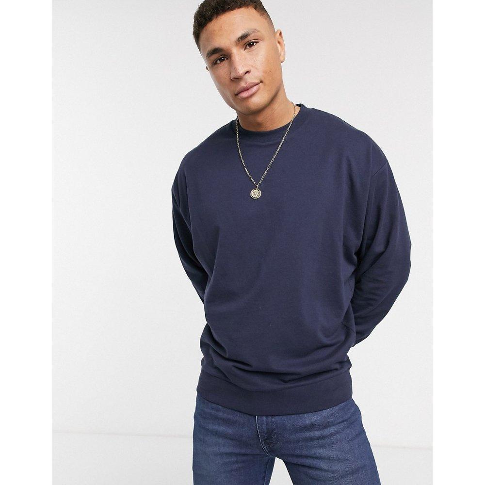 Sweat-shirt oversize léger - Bleu marine - ASOS DESIGN - Modalova