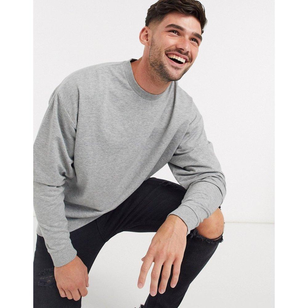 Sweat-shirt oversize léger - chiné - ASOS DESIGN - Modalova