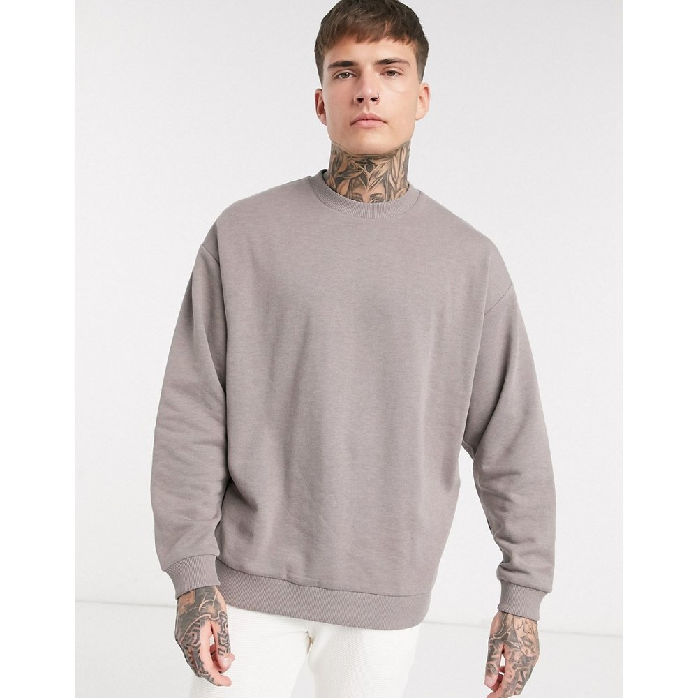 Sweat-shirt oversize - chiné - ASOS DESIGN - Modalova