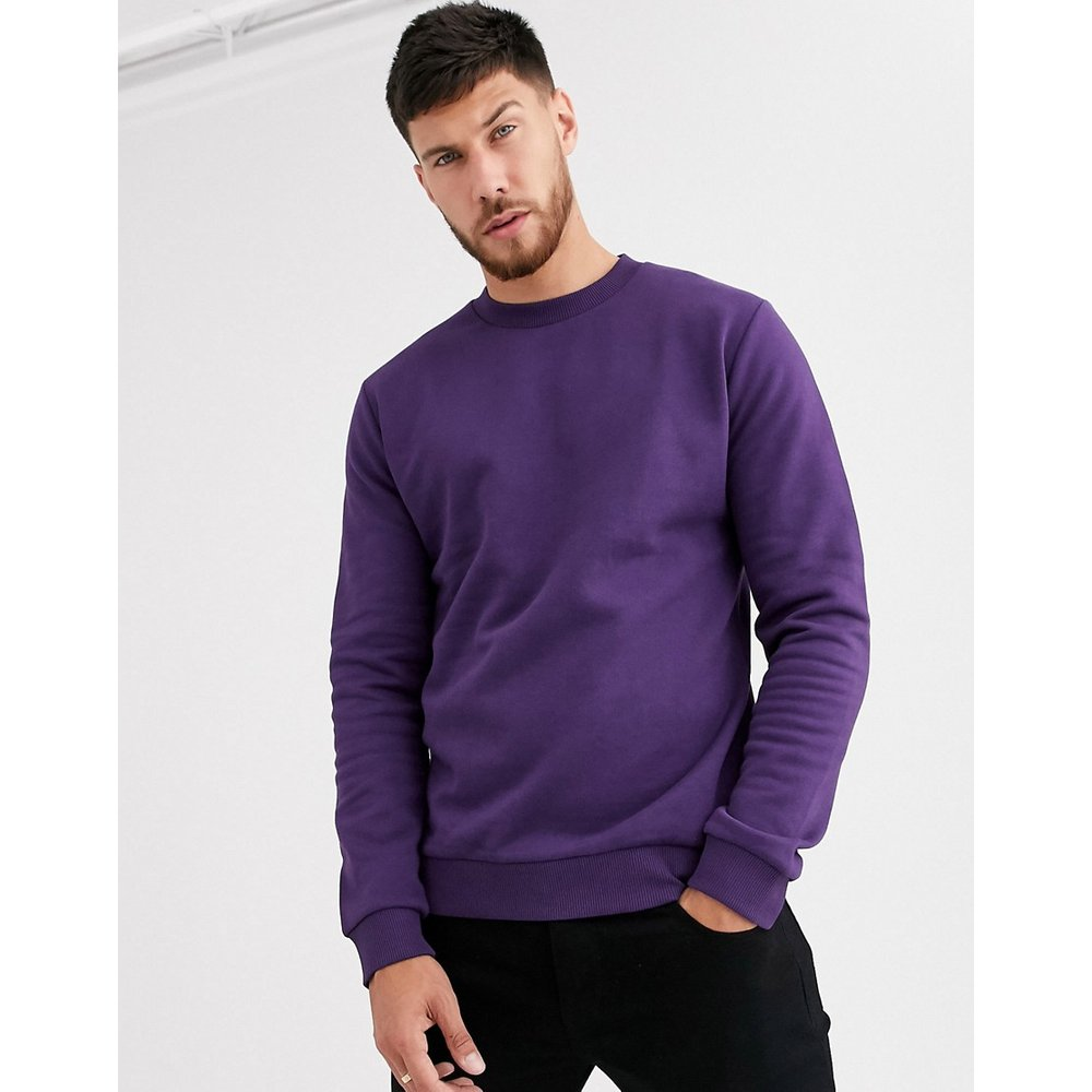 ASOS DESIGN - Sweat-shirt - Violet - ASOS DESIGN - Modalova