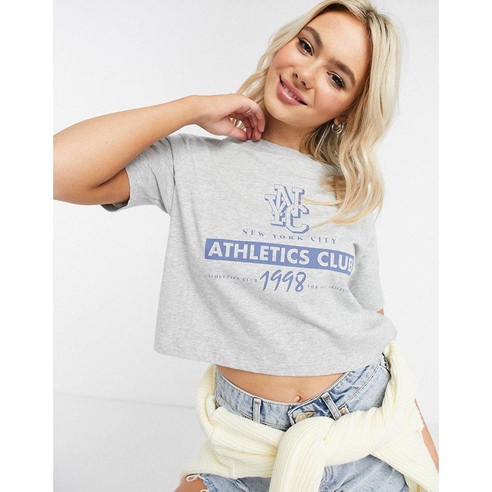 T-shirt à imprimé NYC athletics club - chiné - ASOS DESIGN - Modalova