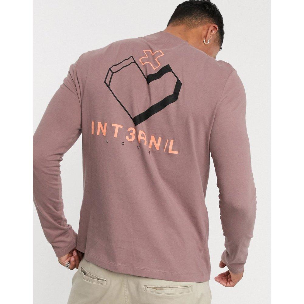 T-shirt à manches longues en coton biologique imprimé dans le dos - ASOS DESIGN - Modalova