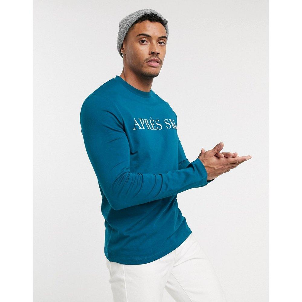 T-shirt à manches longues et imprimé après ski - ASOS DESIGN - Modalova