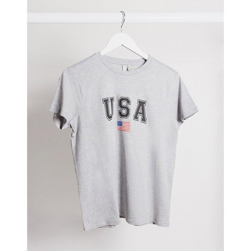 T-shirt avec imprimé USA - ASOS DESIGN - Modalova