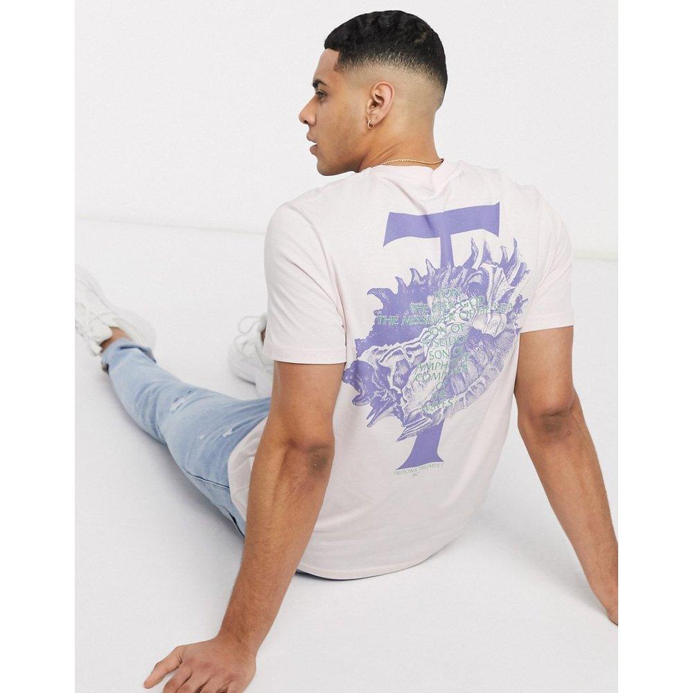 T-shirt avec inscription et imprimé floral au dos - ASOS DESIGN - Modalova