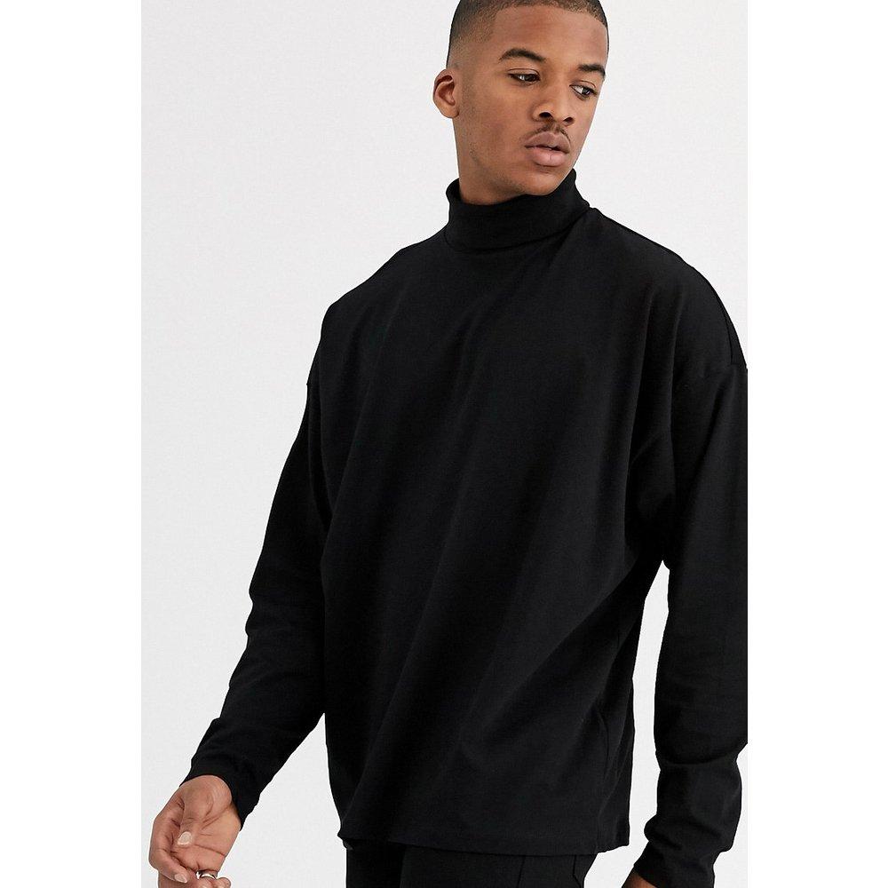 T-shirt col roulé oversize en jersey à manches longues - ASOS DESIGN - Modalova