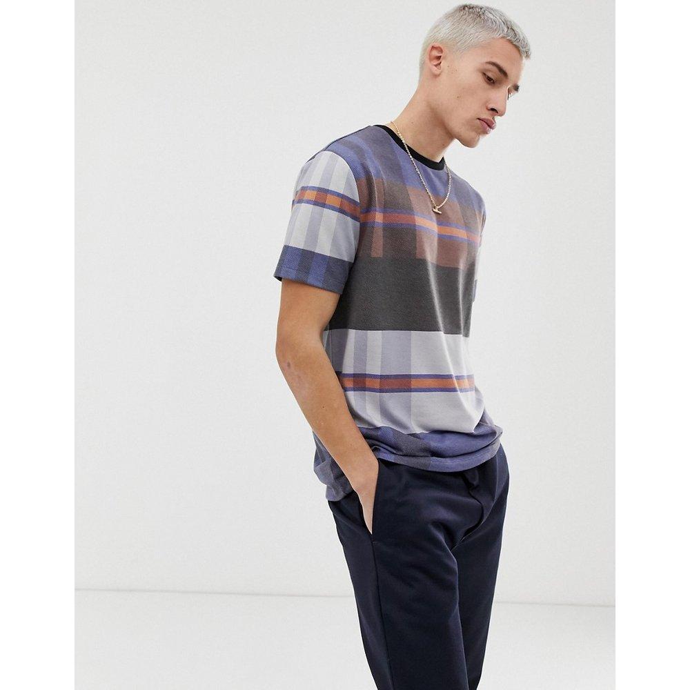 T-shirt décontracté à carreaux en tissu texturé - ASOS DESIGN - Modalova