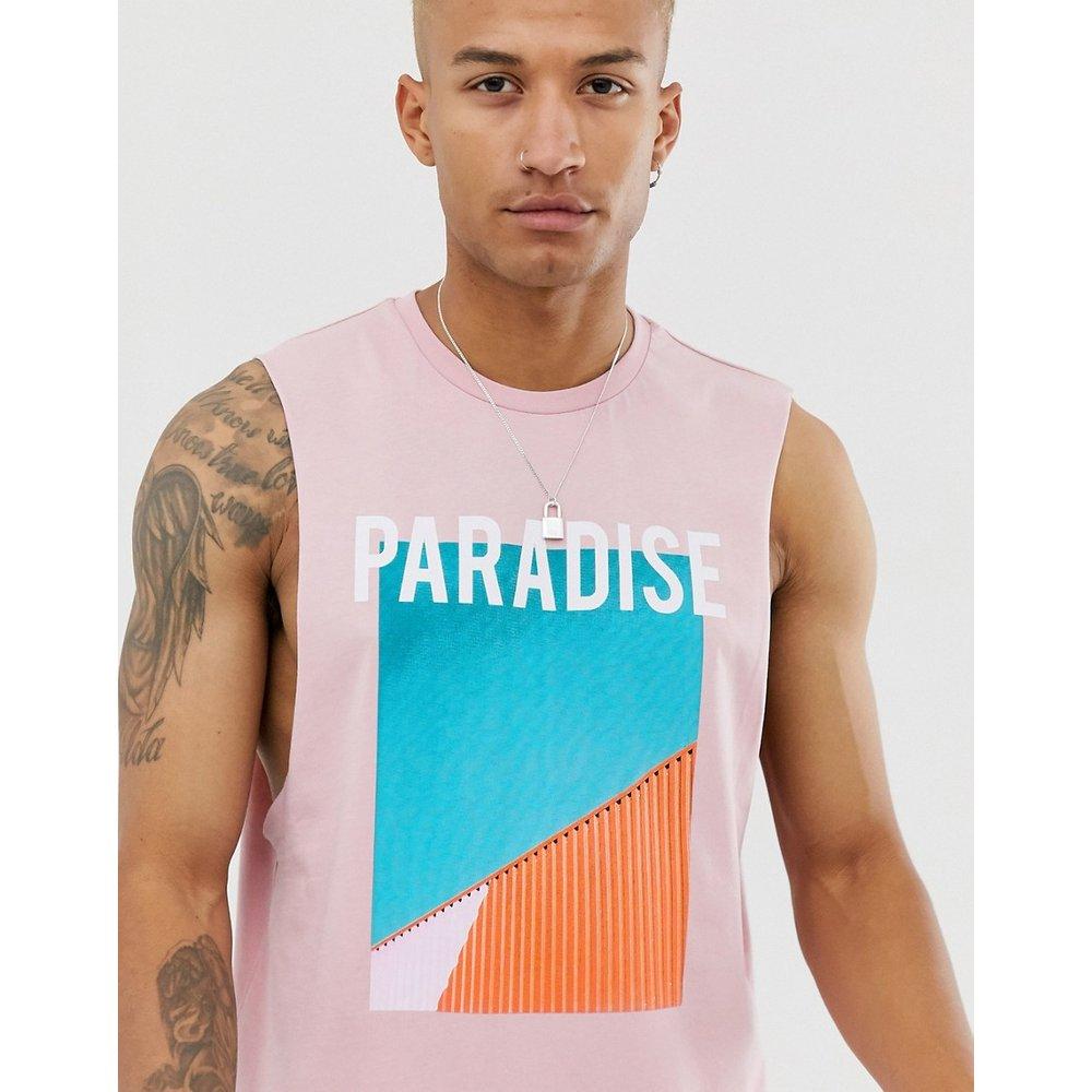 T-shirt décontracté sans manches à imprimé paradis - ASOS DESIGN - Modalova