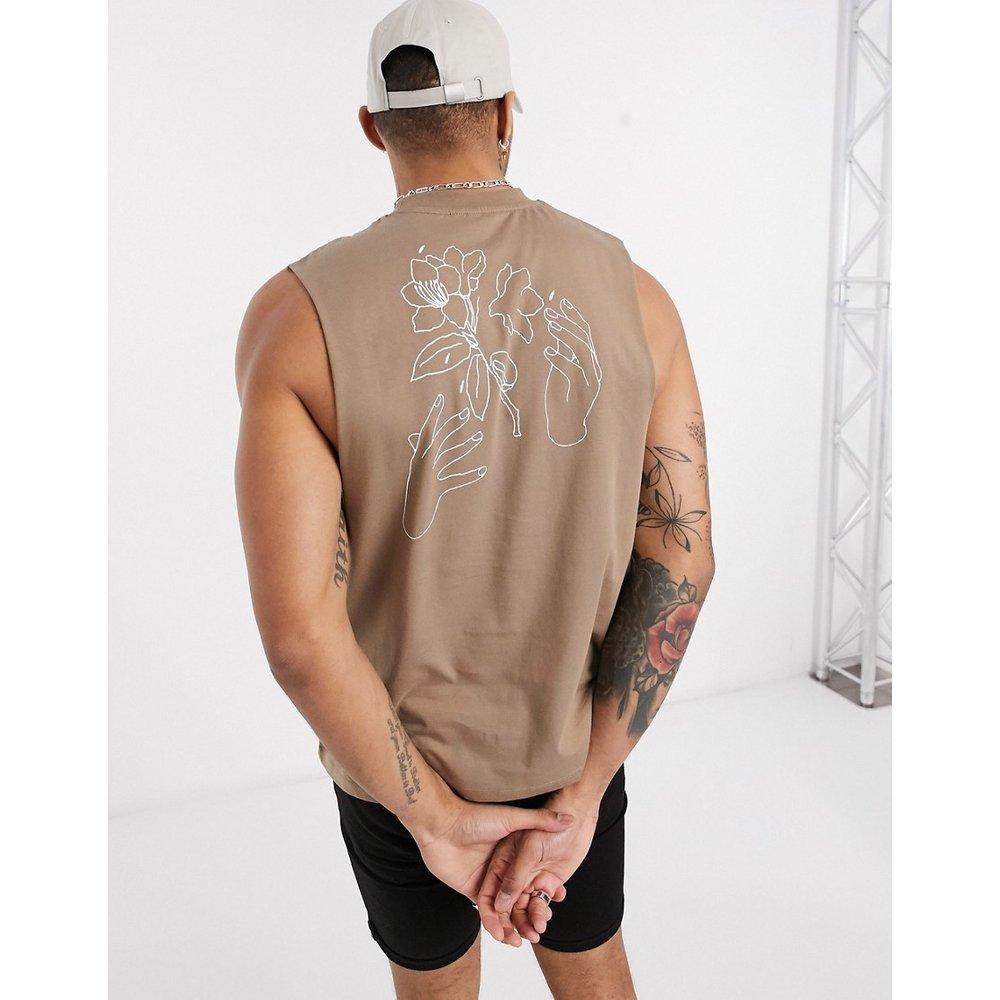 T-shirt décontracté sans manches avec imprimé dessiné au dos - ASOS DESIGN - Modalova