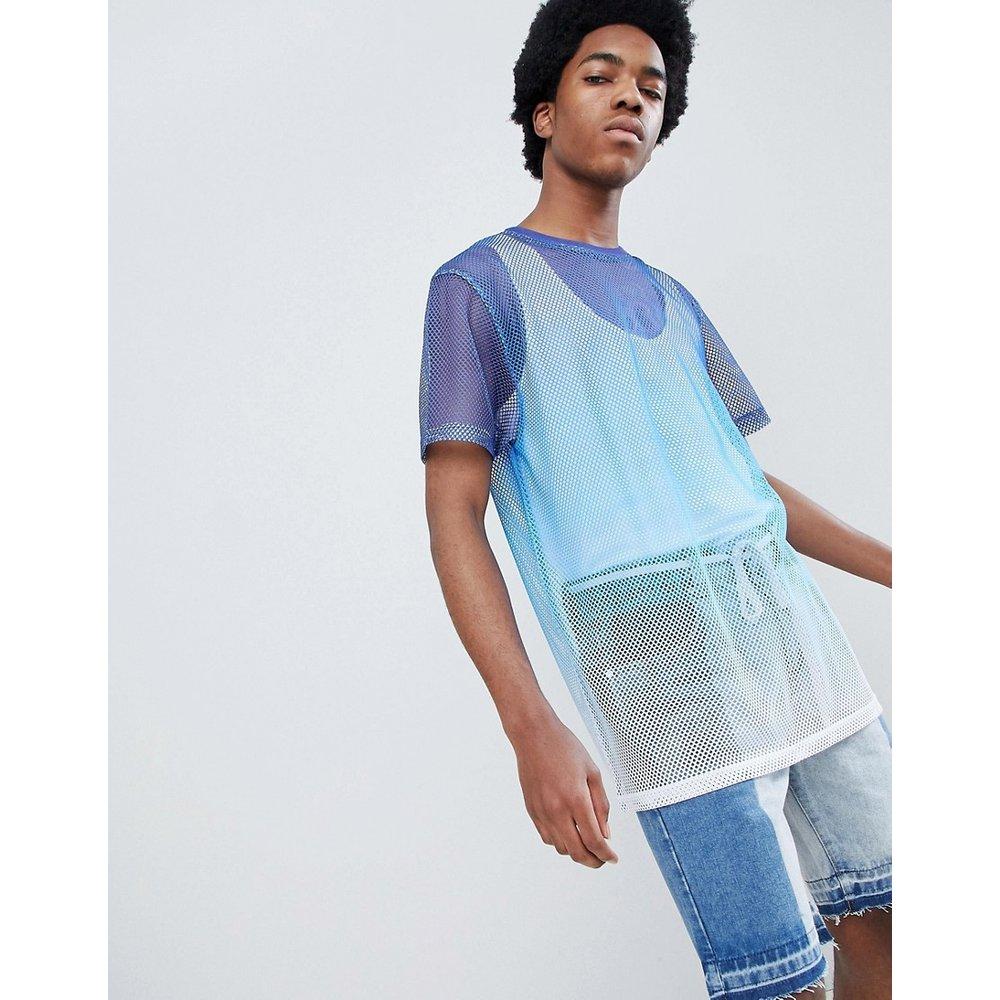 T-shirt long décontracté en maille effet dip-dye en dégradé - ASOS DESIGN - Modalova
