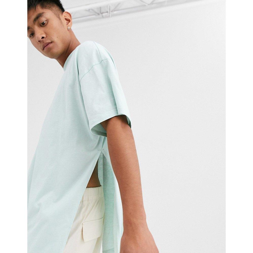 T-shirt long oversize avec longues fentes - Gris - ASOS DESIGN - Modalova