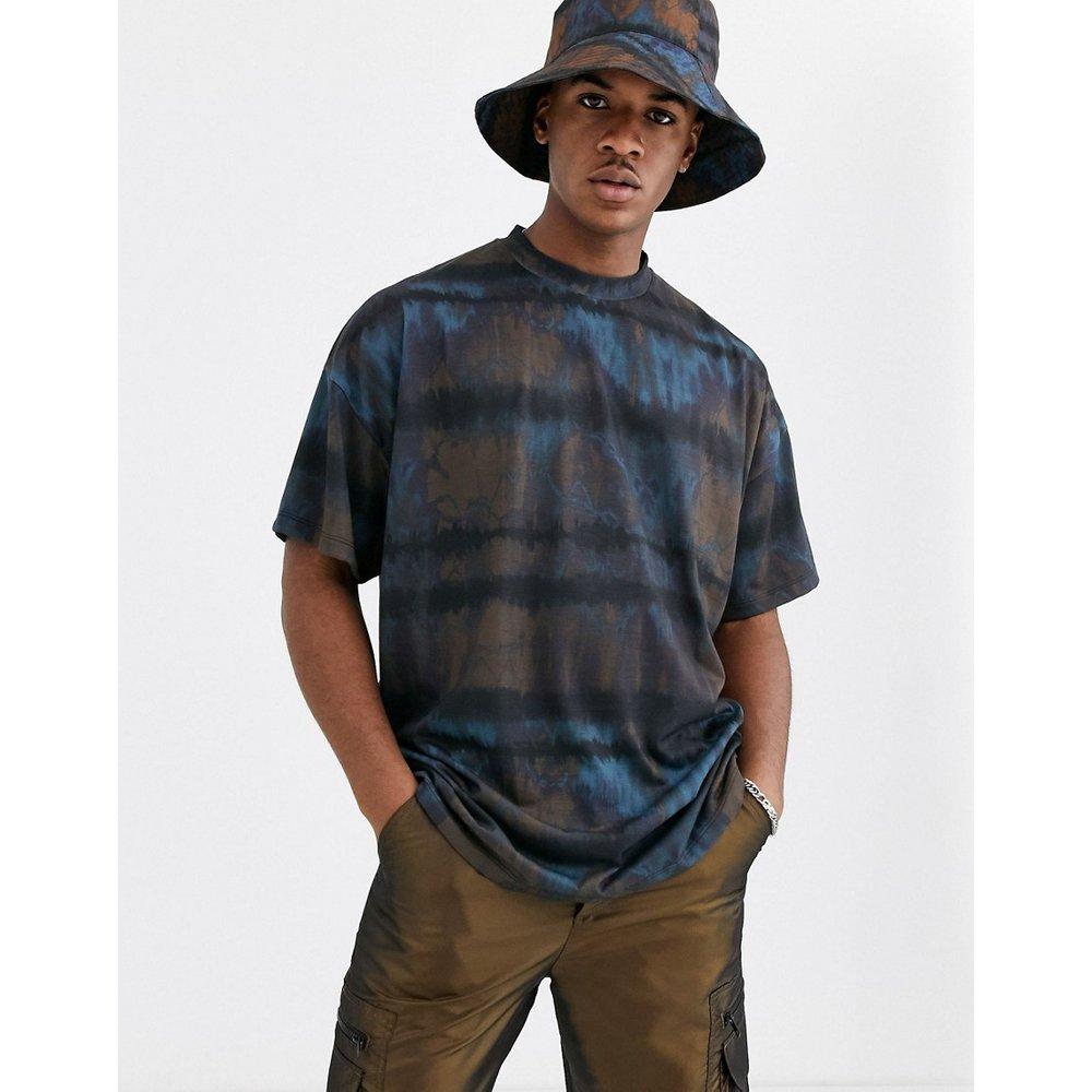T-shirt long oversize effet tie-dye (ensemble) - Bleu délavé - ASOS DESIGN - Modalova