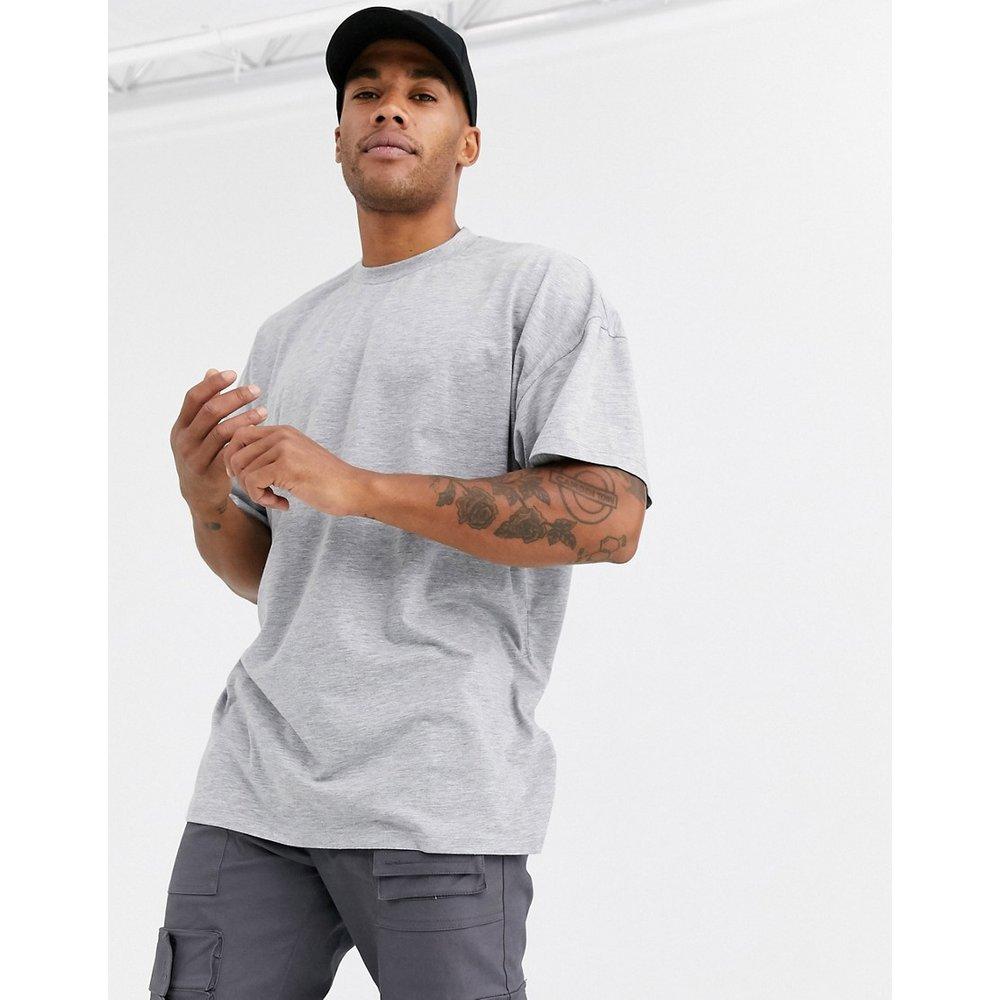 T-shirt long ras de cou oversize - chiné - ASOS DESIGN - Modalova