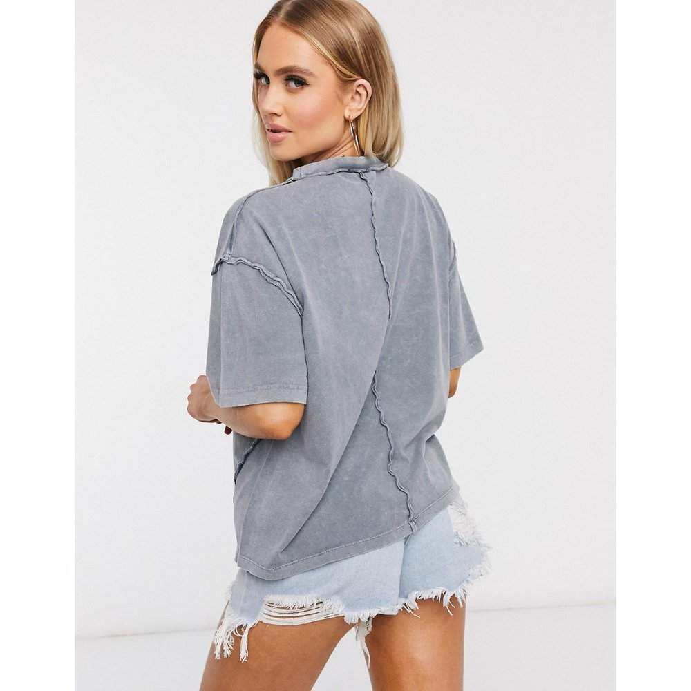 T-shirt oversize à coutures apparentes - délavé - ASOS DESIGN - Modalova