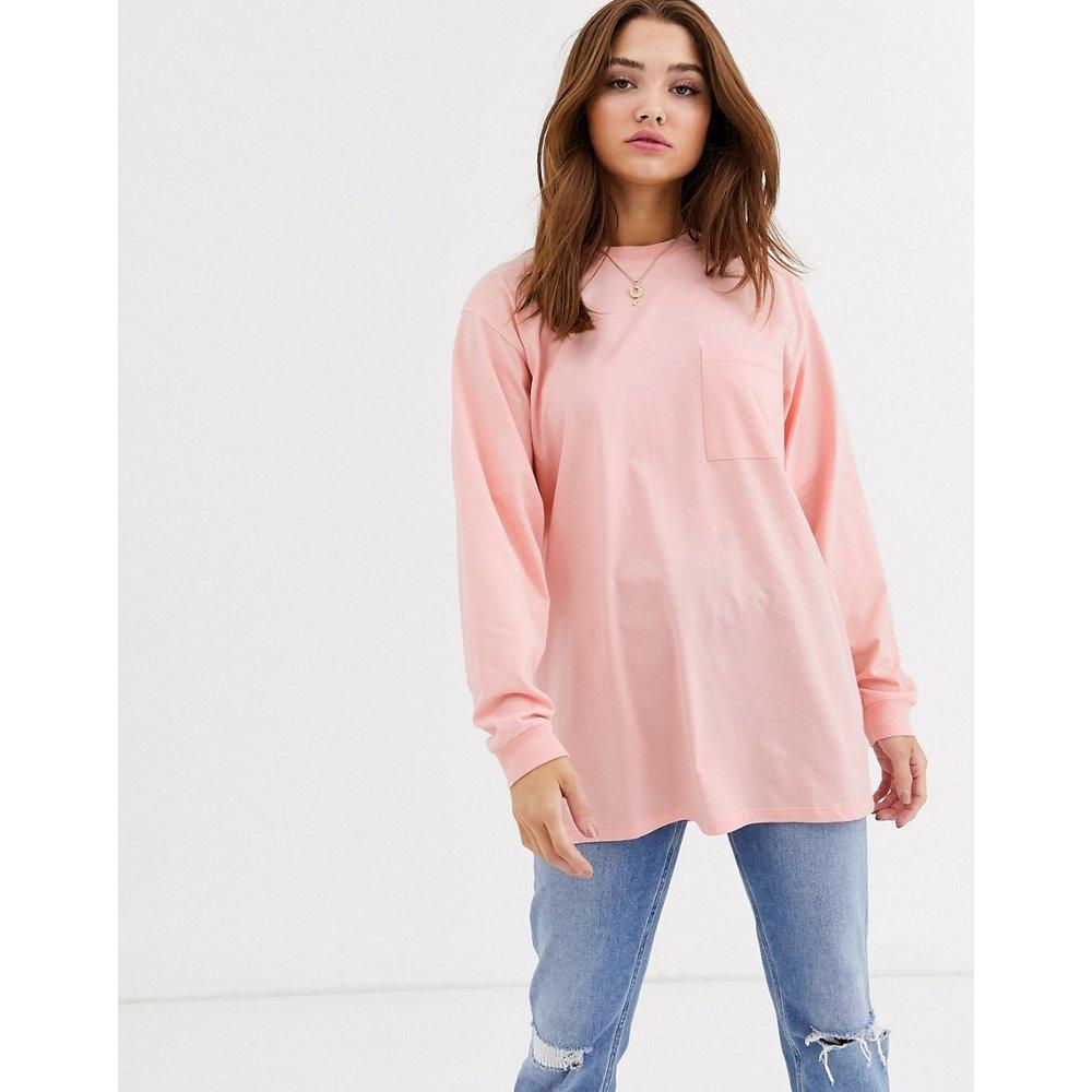 T-shirt oversize à détail poche - Pêche - ASOS DESIGN - Modalova