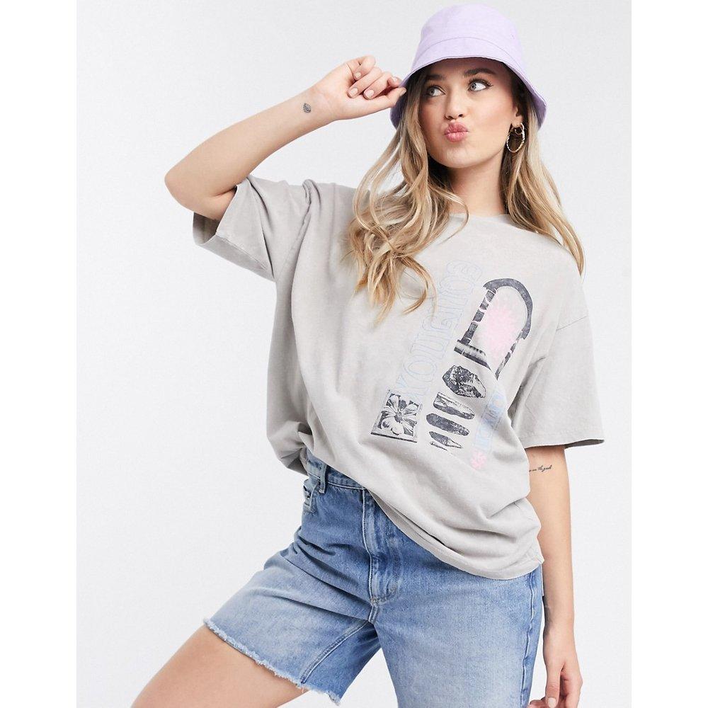 T-shirt oversize avec imprimé Equinoxe - Délavé - ASOS DESIGN - Modalova