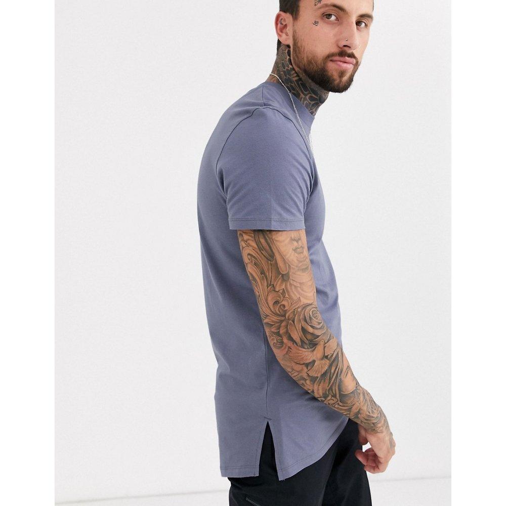 T-shirt ras de cou long fendu sur les côtés - ASOS DESIGN - Modalova