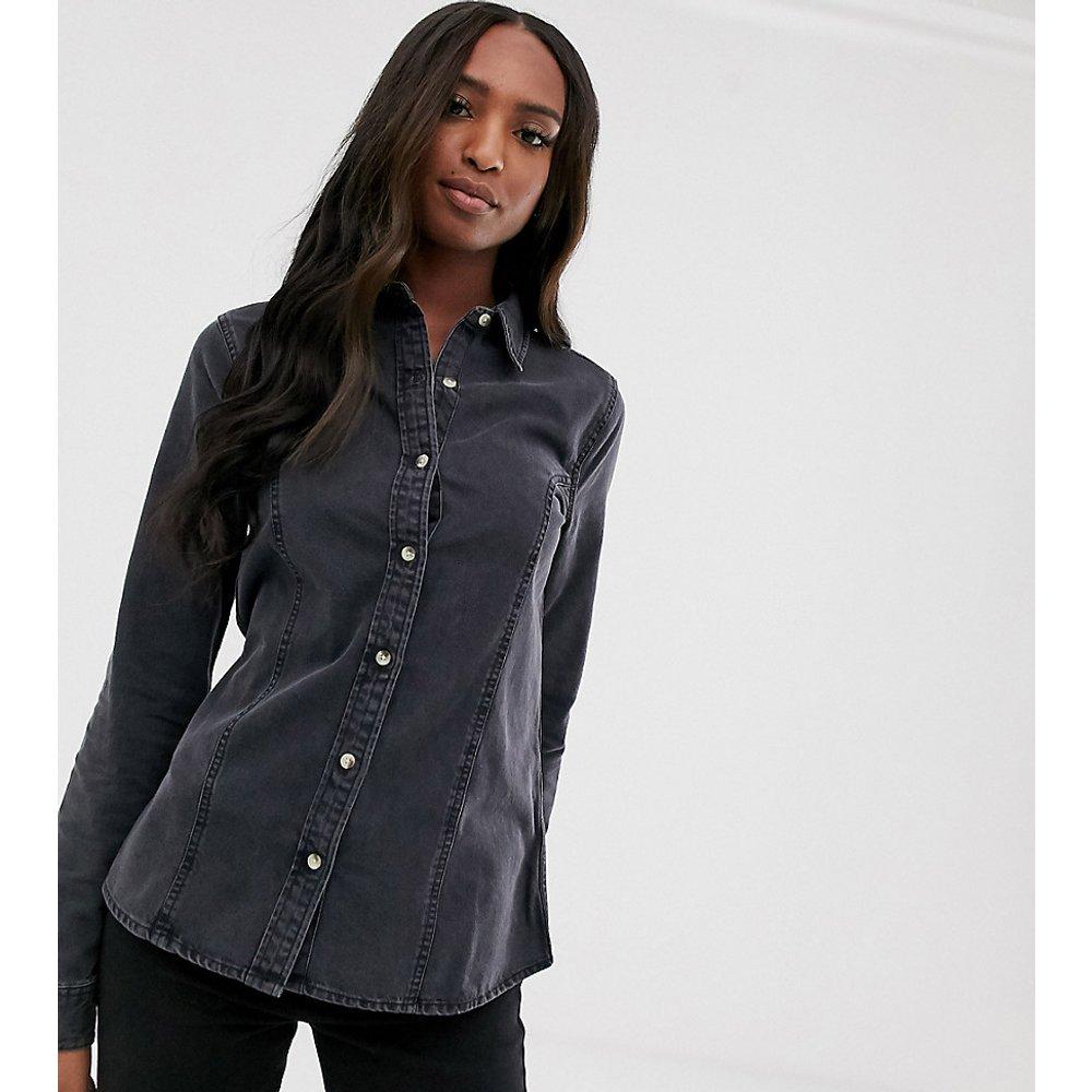 ASOS DESIGN Tall - Chemise western ajustée en jean - délavé - ASOS Tall - Modalova