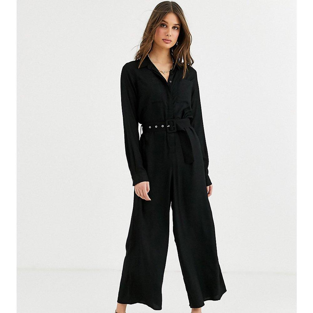 ASOS DESIGN Tall - Combinaison chemise avec ceinture nouée et jambes style jupe-culotte - ASOS Tall - Modalova