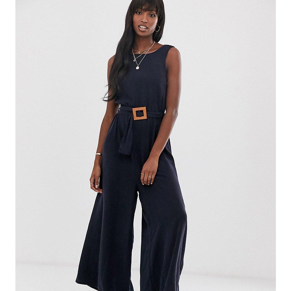 ASOS DESIGN Tall - Combinaison large en jean souple avec ceinture - ASOS Tall - Modalova