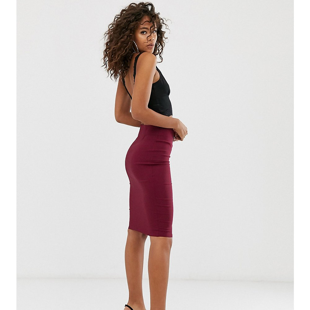 ASOS DESIGN Tall - Jupe fourreau taille haute - Bordeaux - ASOS Tall - Modalova