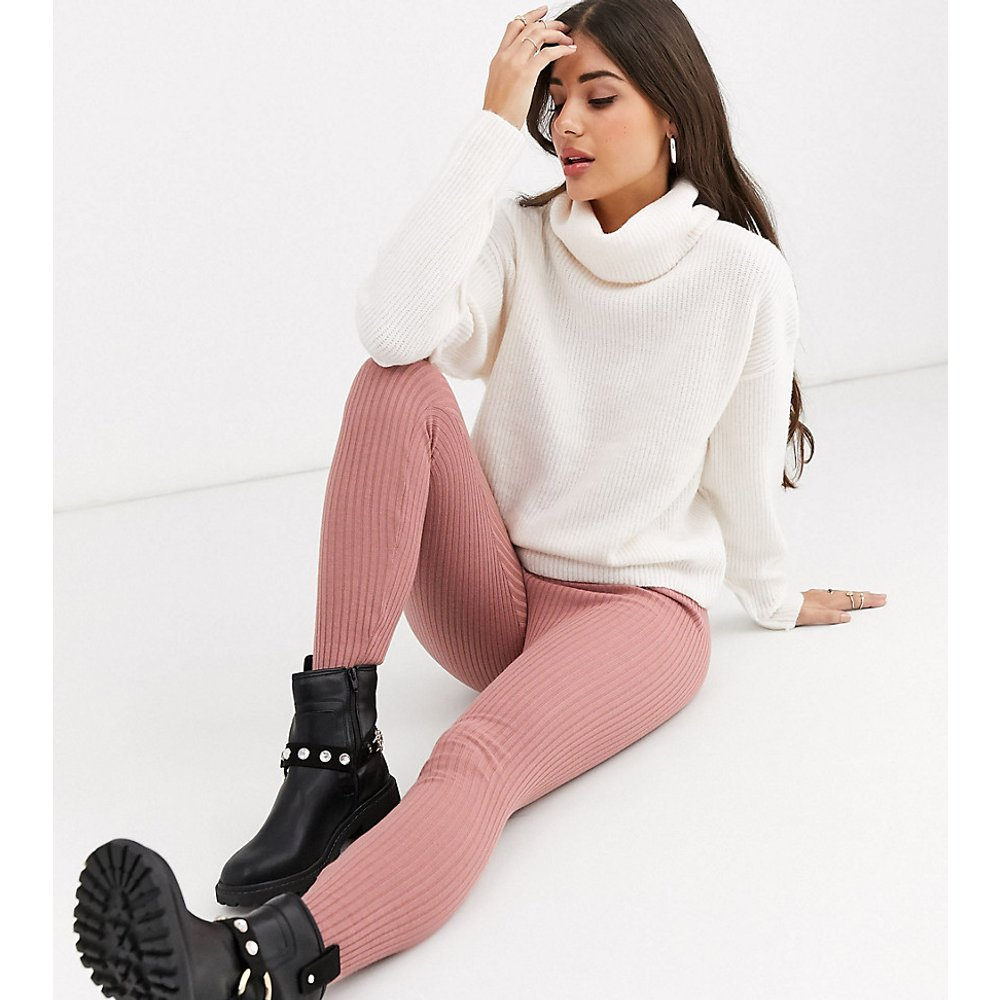 ASOS DESIGN Tall - Legging en maille - Blush - ASOS Tall - Modalova