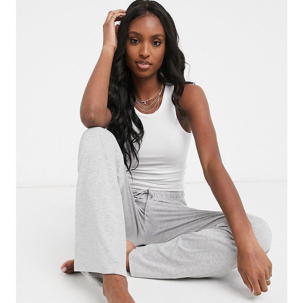 Tall- Mix & Match - Pantalon de pyjama en jersey coupe droite - chiné - ASOS DESIGN - Modalova
